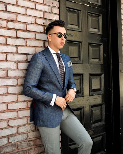 Mr. Scott in a chambray blazer. (Photo: Instagram/Blake Scott)