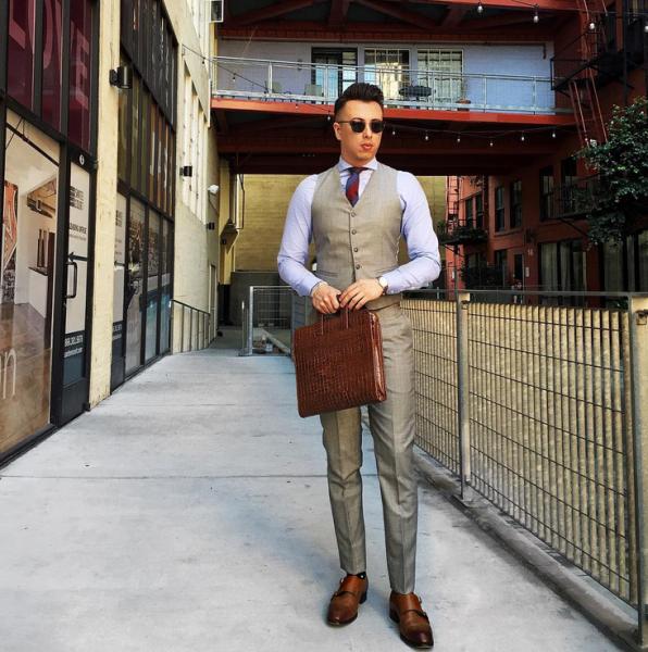 Mr. Scott models a layered look. (Photo: Instagram/Blake Scott)