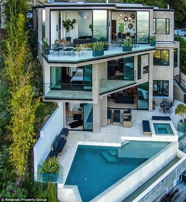Living large: Jordan recently used some of his wealth to purchase a $4.5 million home in the Hollywood Hills