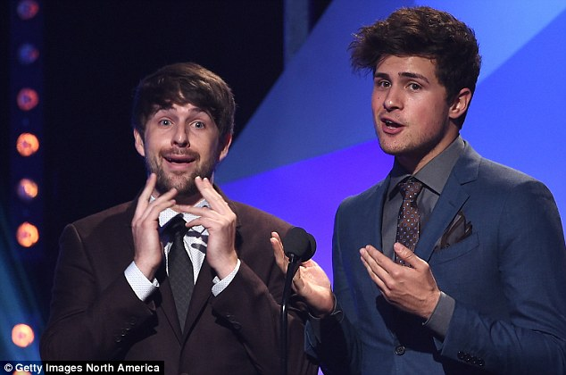Funny boys: Comedy duo Smosh have eight channels to their name and have made their millions with a series of comedy and parody sketches