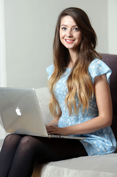 Zoe Sugg, or Zoella, who is an English fashion and beauty vlogger. Photograph: REX Shutterstock