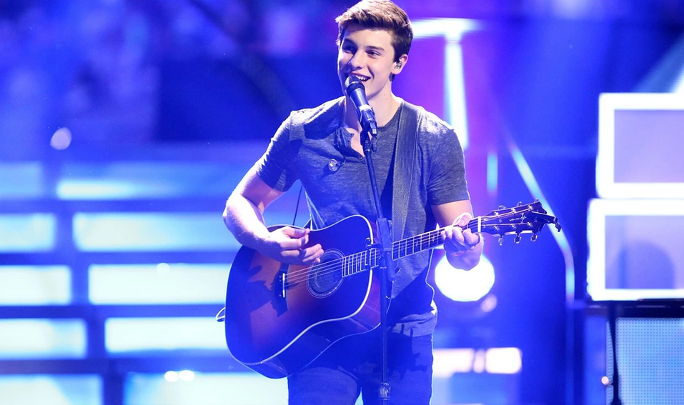 Shawn Mendes, a Canadian singer-songwriter, who became a sensation after postings songs on video-sharing site Vine. Photograph: Pacific Coast News/BarcroftMedia