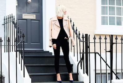 Blogger Jessie Bush poses for Harrods