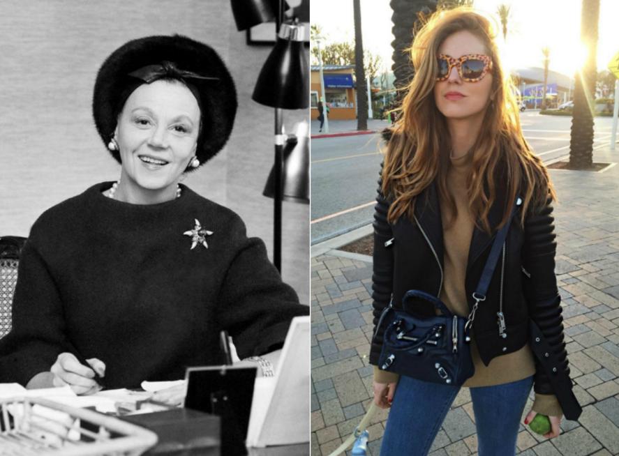 [Today's Instagram-Famous Influencers Are the Vinatge Socialites We Deserve] Eleanor Lambert (left); Chiara Ferragni (right) Source:AP/Instagram