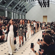 Instagram post from Burberry for spring/summer 2016 LFW