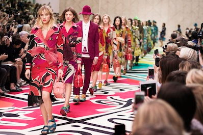 Finale for Burberry spring/summer 2015 women's wear show