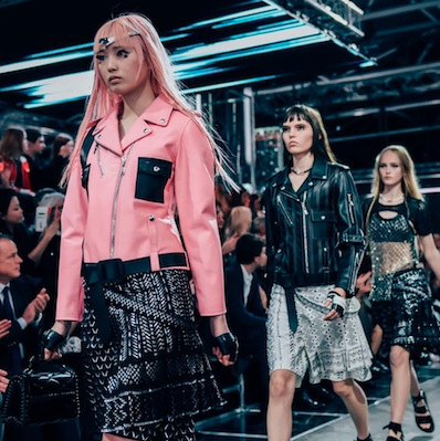 Louis Vuitton's spring runway collection included leather pieces
