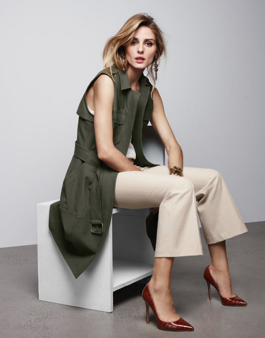 Olivia Palermo in her designs for Chelsea28, available at Nordstrom.