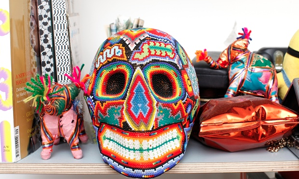 Colour cameleon: a mask picked up on Susie's travels. Photograph: Katherine Anne Rose for the Observer