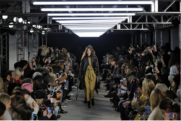 At New York Fashion Week, the runway show for 3.1 Phillip Lim's Fall/Winter 2016 collection. (Ze Takahashi/MCV Photo For the Washington Post)