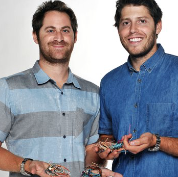 CEO Griffin Thall and CFO Paul Goodman of Pura Vida Bracelets.