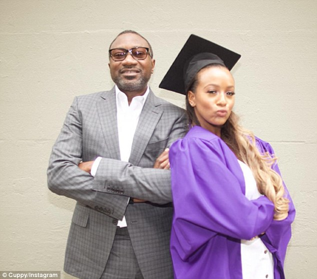 Cuppy, pictured on her graduation day with her energy tycoon Femi Otedola said she is scared of spending her whole life in his shadow