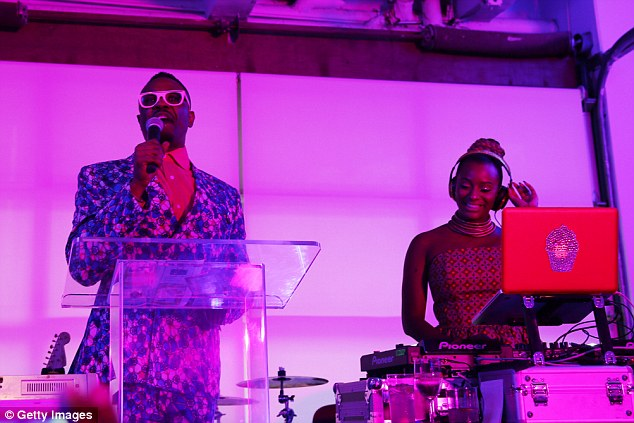 Cuppy takes to the deck as a charity fundraiser at the Gladstone Gallery in New York. She said she doesn't always want to be known as her father's daughter but famous in her own right