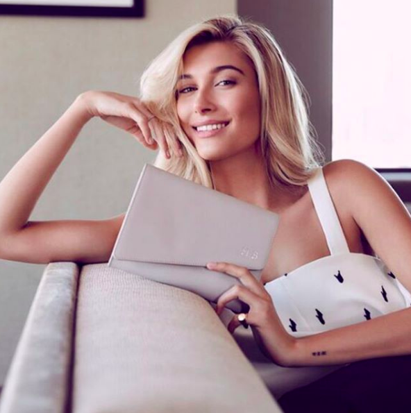 Credit: Instagram.com/thedailyedited ft. Hailey Baldwin in a recent campaign