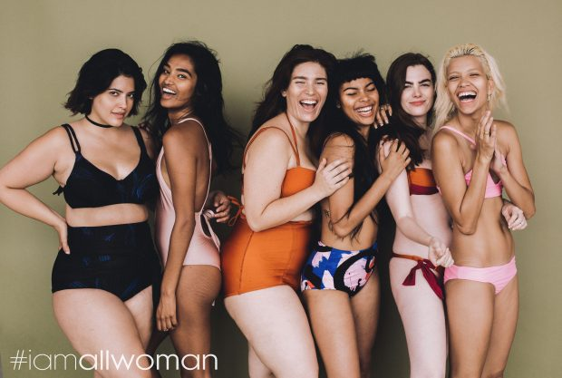 FROM LEFT: DENISE BIDOT, SHIVANI PERSAD, CLÉMENTINE DESSEAUX, LEAF, CHARLI HOWARD, VICTORIA BRITO; IMAGE: COURTESY OF HEATHER HAZZAN AND LILY CUMMINGS/ALL WOMAN PROJECT