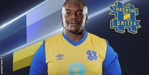 Adebayo Akinfenwa teased fans on Instagram over a move to Hashtag United