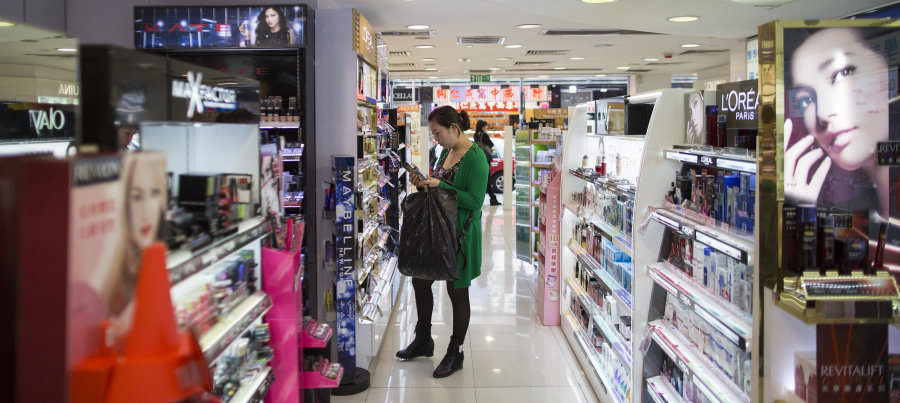 BLOOMBERG VIA GETTY IMAGES The beauty sector of the retail industry is one of the most resistant, regardless of economic uncertainty.