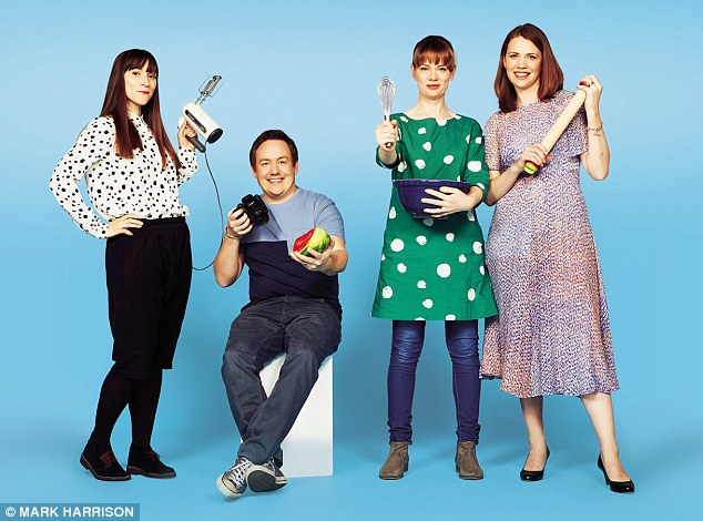 From left: the cupcake queen Jemma Wilson, the bloke next door Barry Lewis and the family-friendly sisters Claire and Lucy McDonald