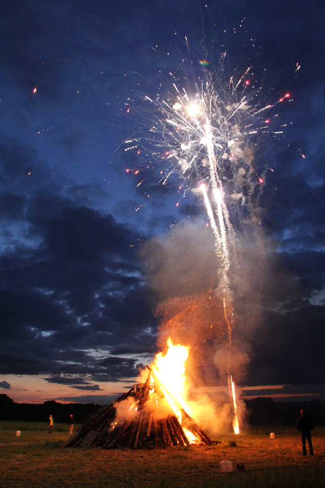 Jubilee Bonfire, Bramham June 2012