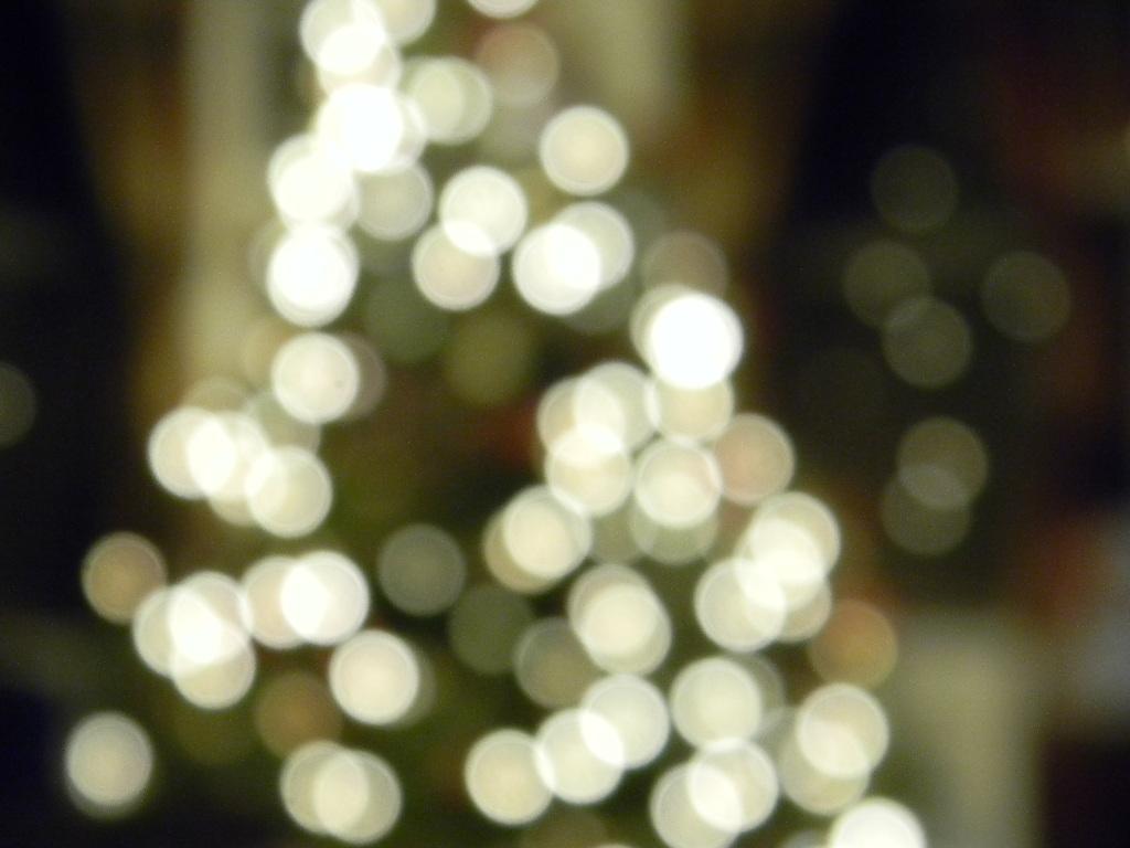 christmas lights and christmas carols - Blurred Christmas Lights