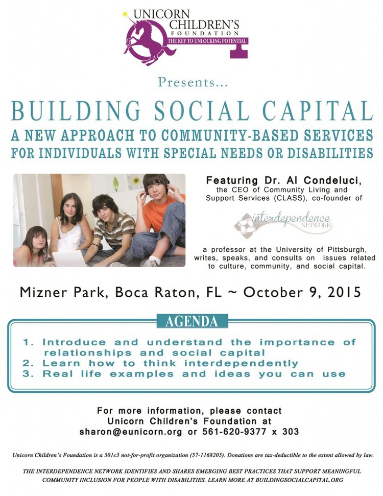 South Florida Social Capital Symposium Interdependence Network