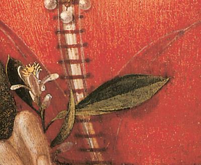 Portrait of a lady - Domenico Ghirlandaio-détail