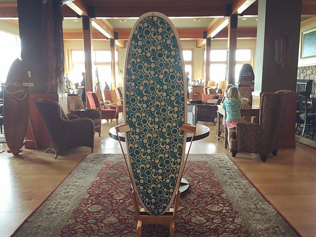 Come check out the #tofinoboardwalk on display @longbeachlodgeresort during the #ripcurlprotofino. This is one of your last opportunities to see the covey together before the gala auction on May 26th where these beautiful boards will find their new homes with the highest bidder! ✨#tofinoartscouncil #surf #tofinoart #tofinoevents #mylblmoment