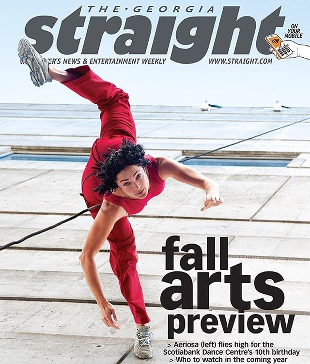 ❤️ this Georgia straight cover with Julia Taffe from @aeriosadance on it! Congratulations on  receiving  the Isadora award Julia! YOU break boundaries and make ART HAPPEN! Thank you!!! FYI-Aeriosa has a Tofino treetop workshop July 4,5&6 www.aeriosa.org for info! #aeriosa #dance #tofinoart #tofinoartist #workshop #isadoraaward #georgiastraight #tofinoartscouncil #arts #dancinginthetrees