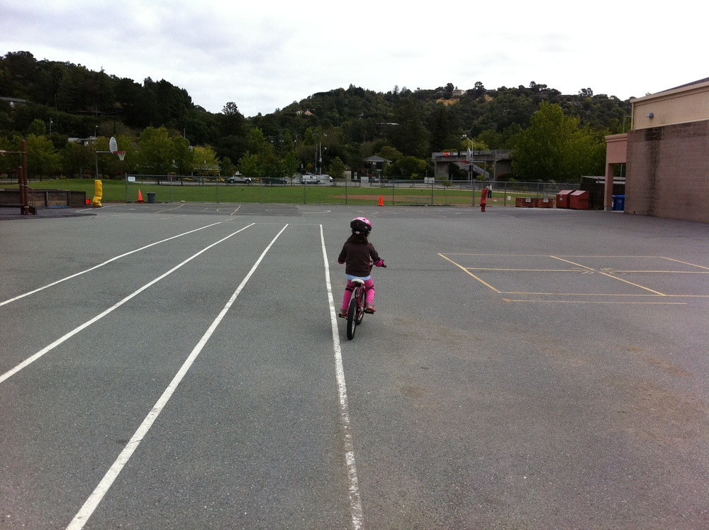 Evie Rides Her Bike without Training Wheels