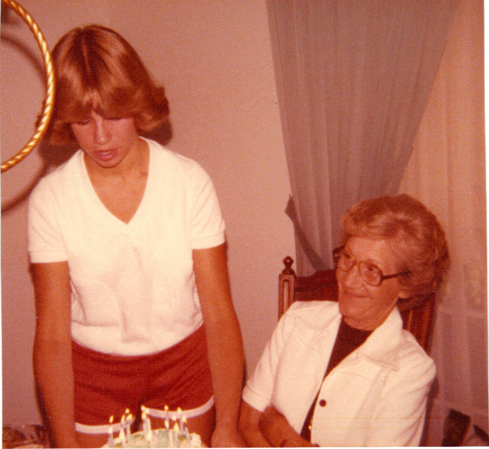 Me with Mommom, circa 1977-ish   Celebrating her birthday in August