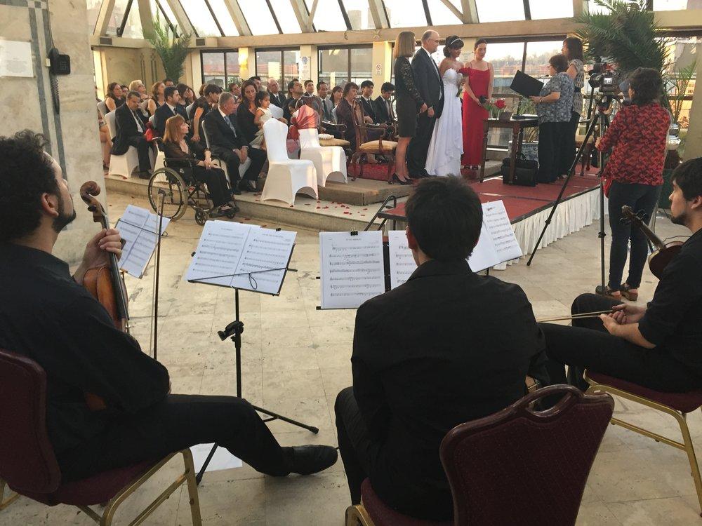 Unión de dos países en esta ceremonia civil. 🇨🇱🇺🇸❤️