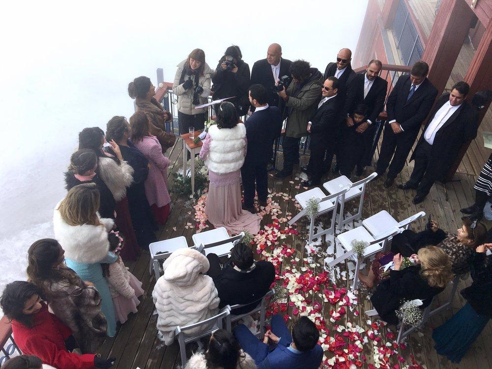matrimonio en la nieve