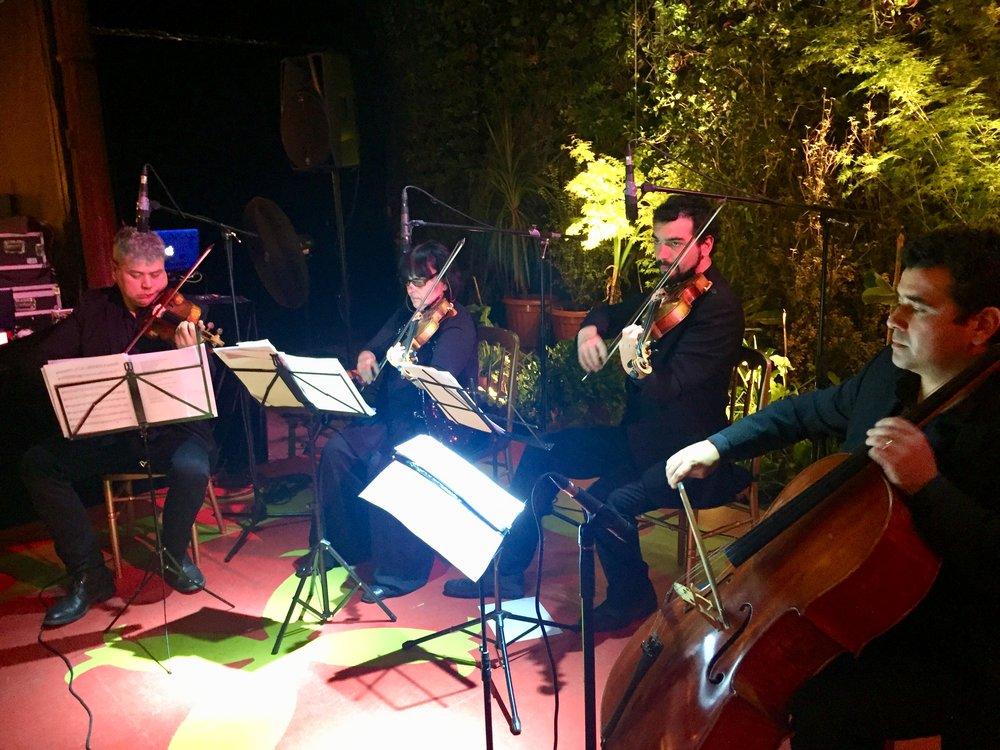 cuarteto de cuerdas cena musicos