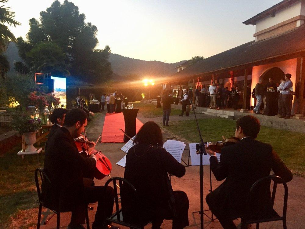 Cuarteto de cuerdas músicos eventos Chile