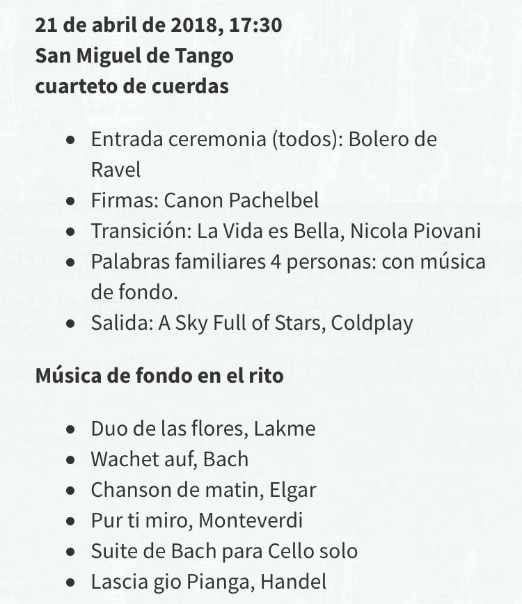 Repertorio musica ceremonia matrimonio aire libre civil simbólica chile
