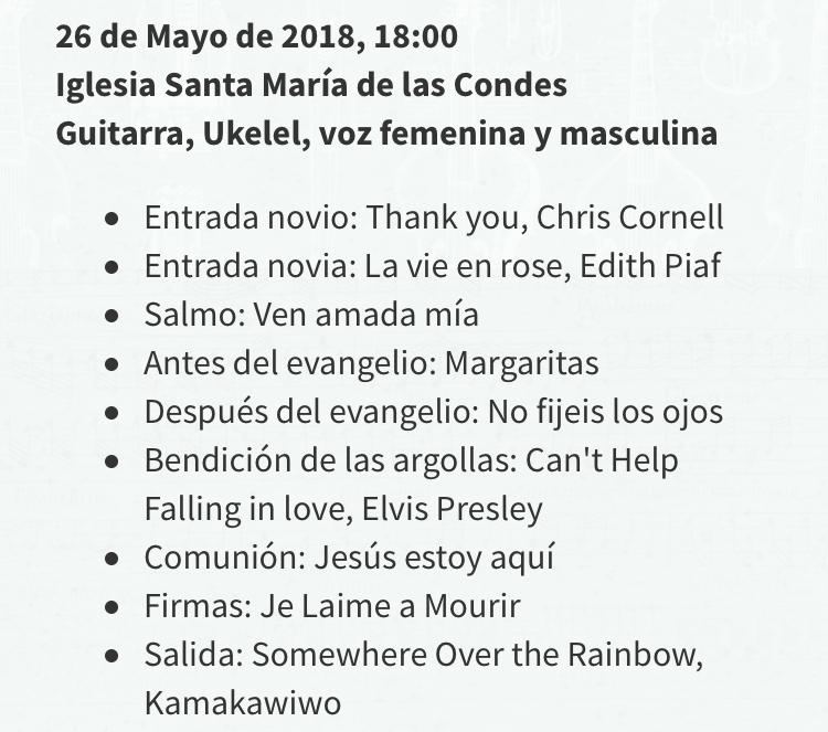 Repertorio canciones para matrimonio ceremonia iglesia simbolico civil moderno