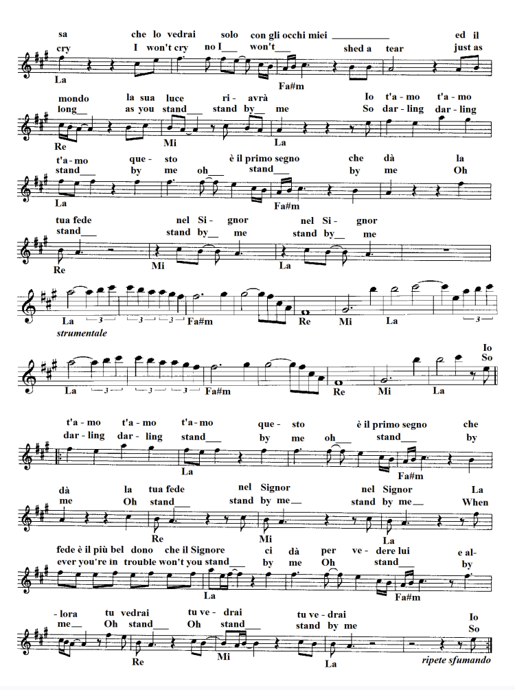Stand by Me sheet music download free partitura gratis