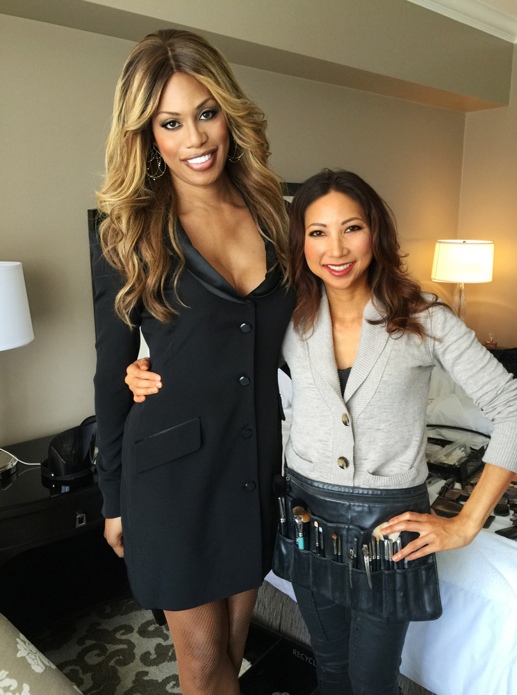 Me with Laverne after finishing her hair and makeup!