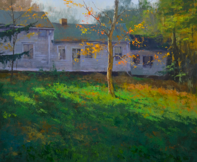 old lyme,Connecticut,oil painting,gabor svagrik