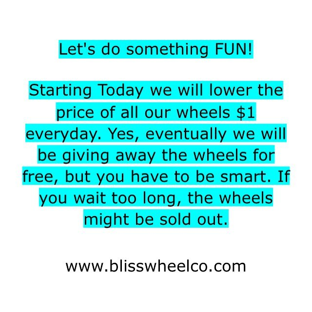 Let's do something FUN!  Tag your friends who need new wheels. #stayblissed