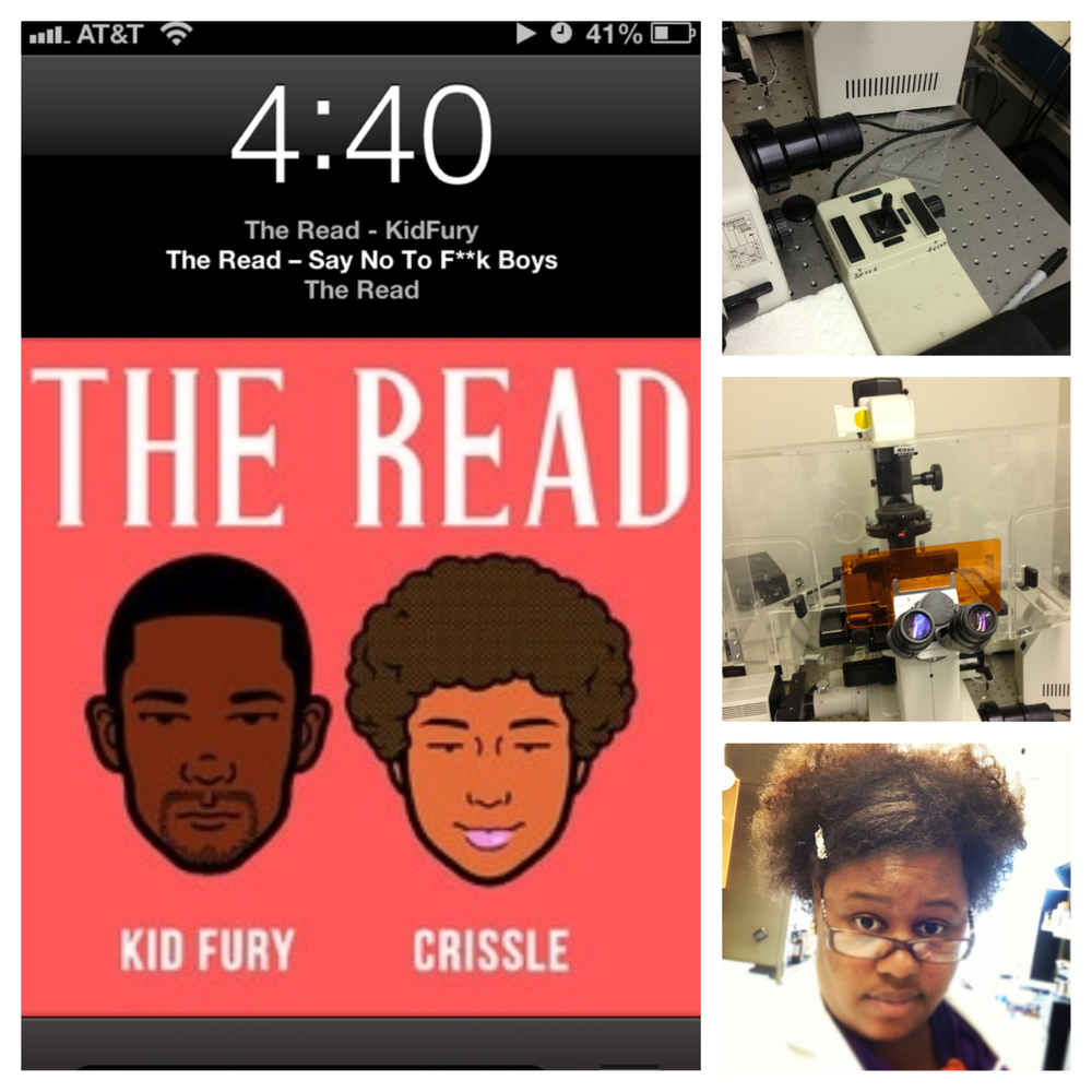Listening to The Read while at my internship. Not giving a honey coated fuck about how long it's taking me. :-)  Melissa R. Memphis, Tennessee, USA