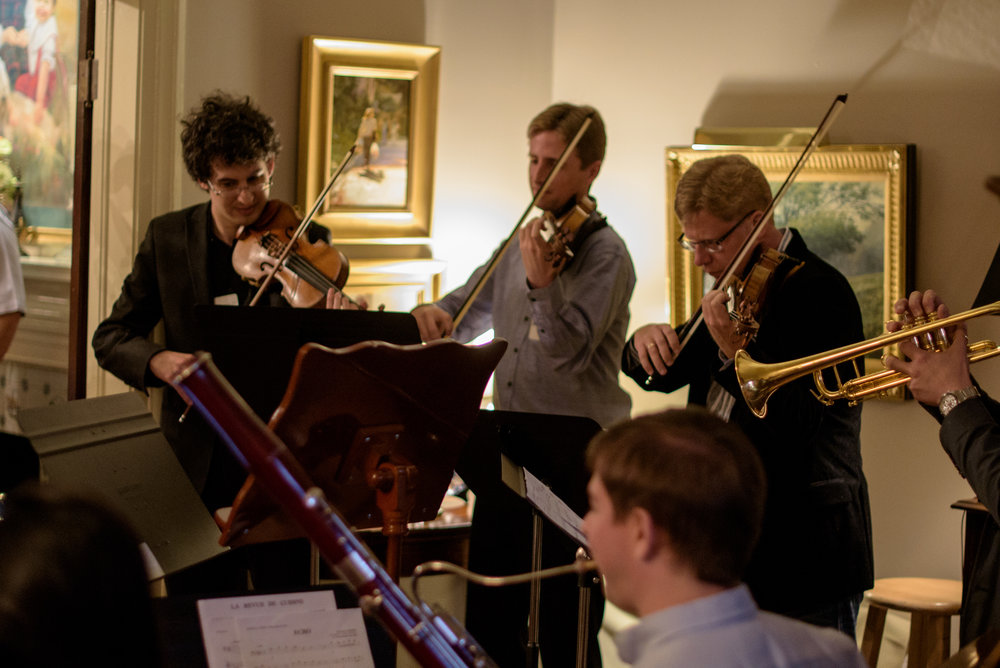 2016 Fest Musicians play for the Soirée guests.