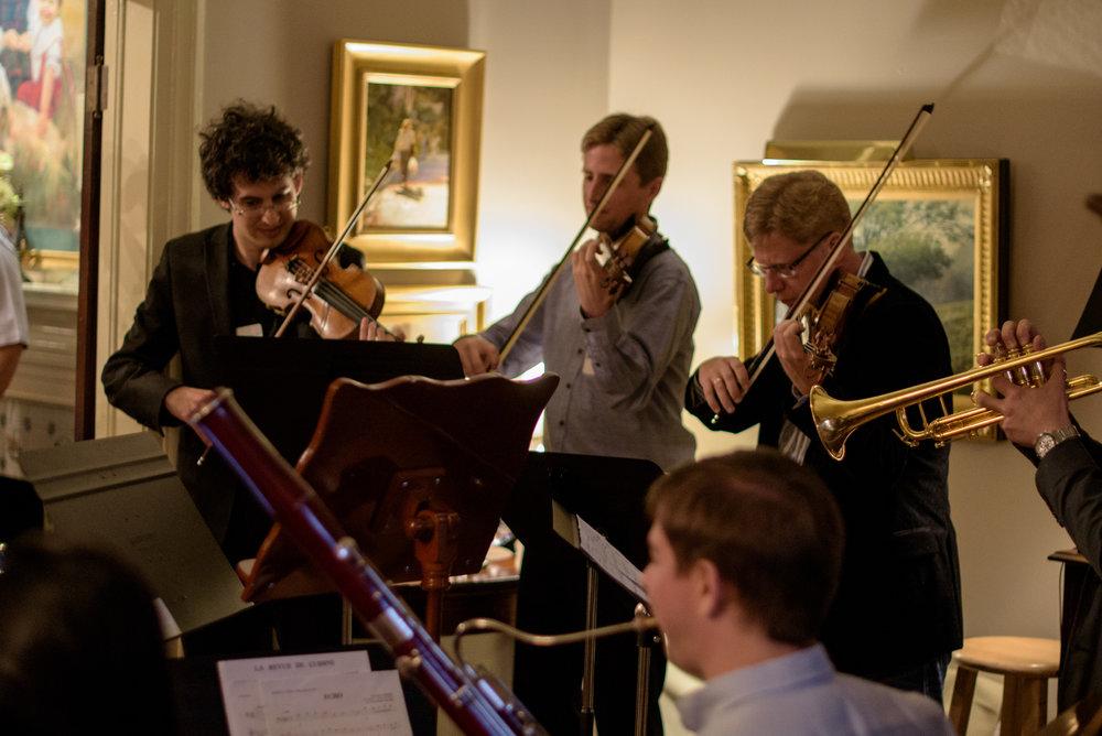 2016 Fest Musicians play for the Soirée guests.