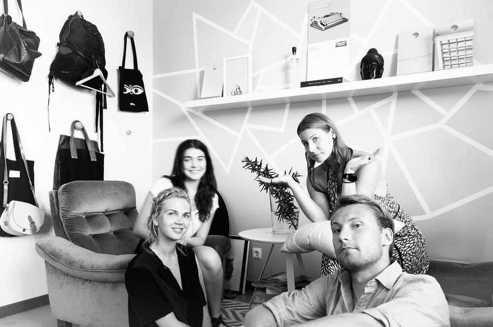 From Left: Madlen , Anna Marie , Terje , Martin