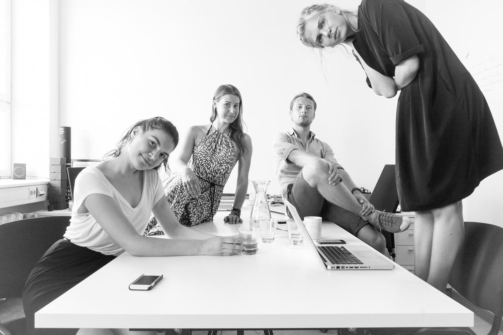 From left: Anne Marie , Terje , Martin , Madlen