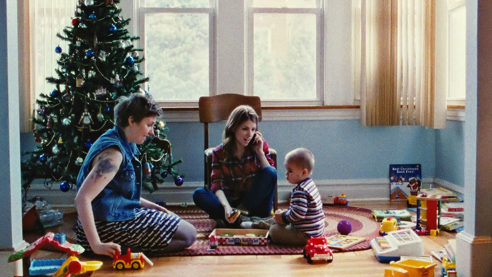 Lena Dunham, Anna Kendrick and Jude Swanberg in Happy Christmas