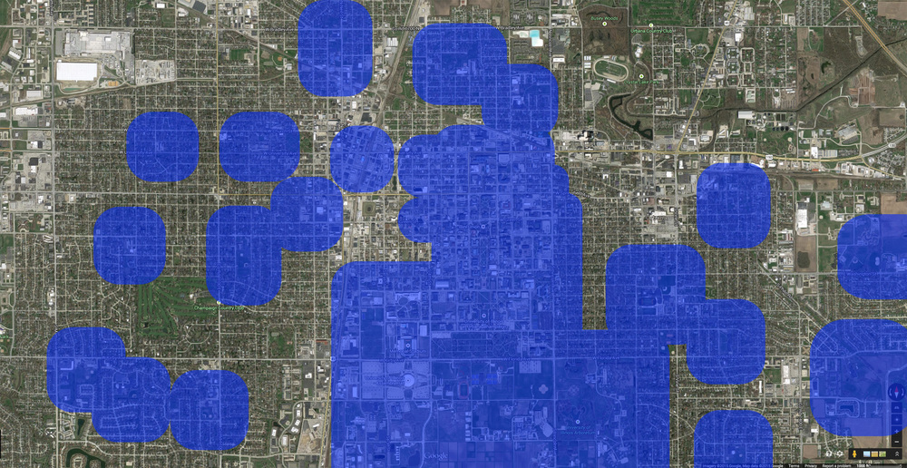 Areas within 1,000 feet of the real property comprising any school