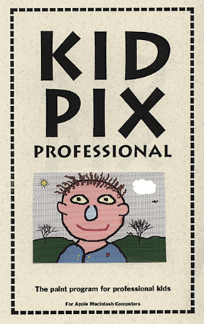 Manual cover for Kid Pix Professional
