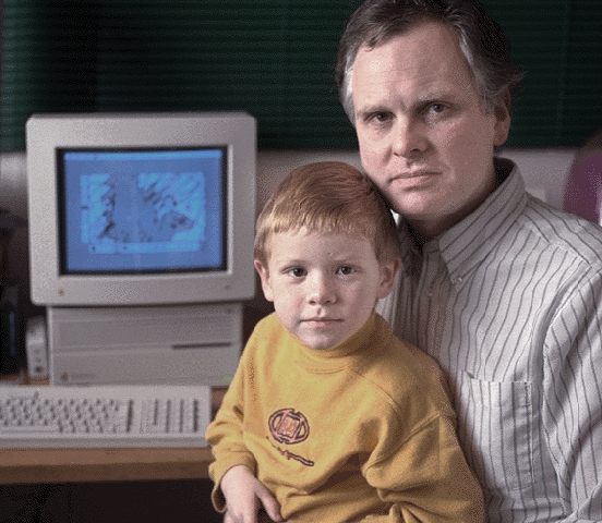 Ben and me just after Kid Pix was released