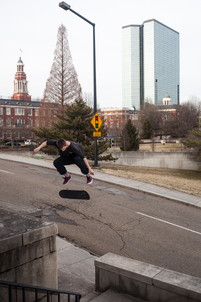 Hartman Austin: Kickflip, skinny to skinny  Knoxville, Tennessee  Photography: R.J. Hess
